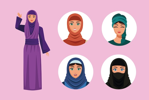 Пять мусульманок