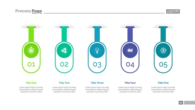 Five options infographic diagram template
