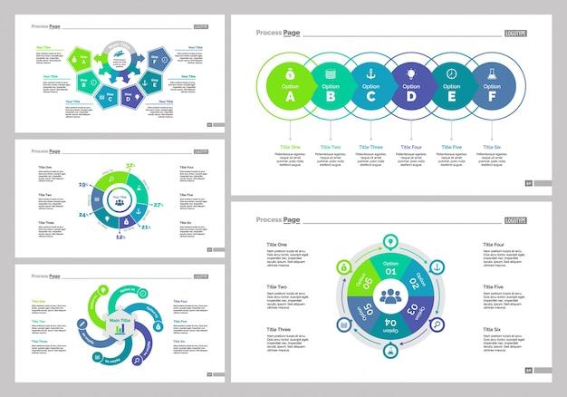 Five recruitment slide templates set