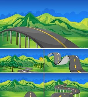 산으로 빈도의 5 장면