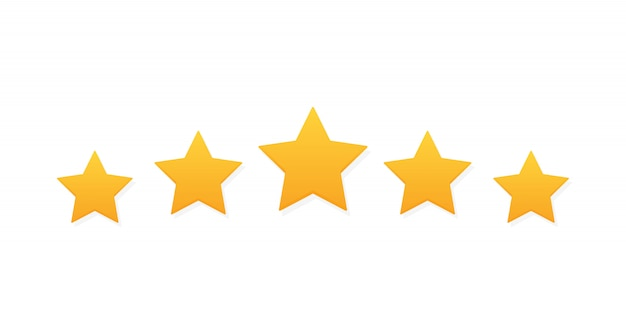 Five stars customer product rating review