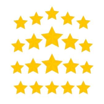 다섯 별 등급 골드 아이콘 모음