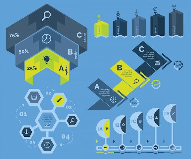 Пять шаблонов шаблонов диаграмм