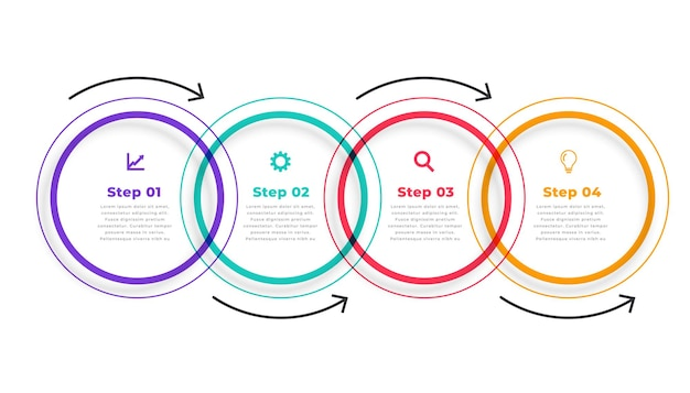 Five steps directional circular infographic template