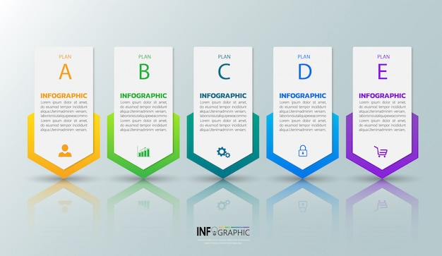 Five steps infographics template