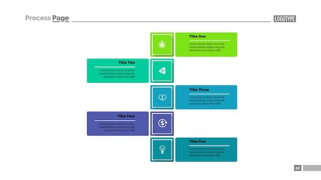 Five steps strategy slide template