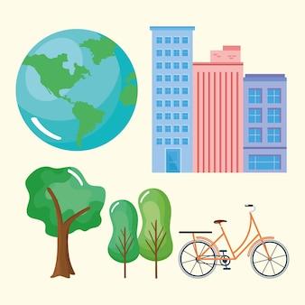 Five urban city icons