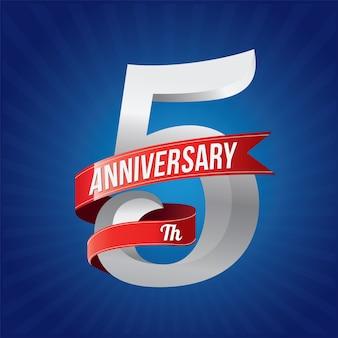 Five years anniversary celebration logotype