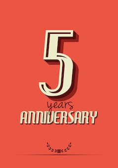Five years anniversary poster template