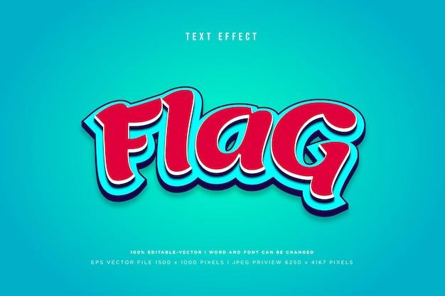 Flag 3d text effect template