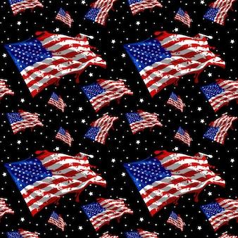 국기 미국 원활한 패턴 벡터 디자인