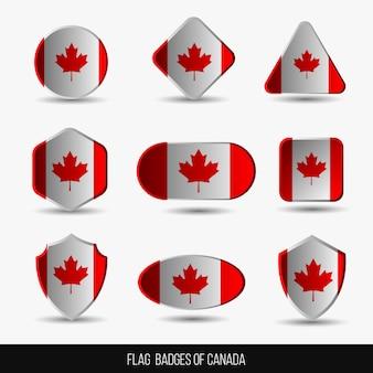 Flag badges of canada