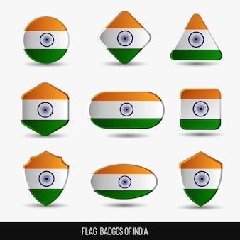 Флаг значки индии