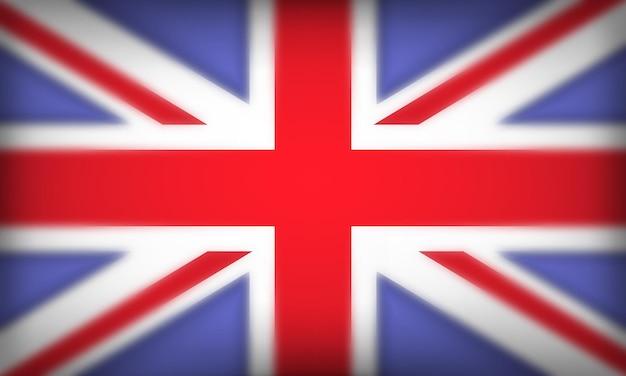 Flag of british 3d realistic