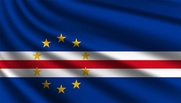 Flag of cape verde background template.