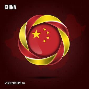 Флаг китая фон