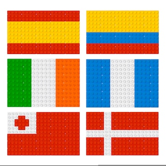 Flag collection lego