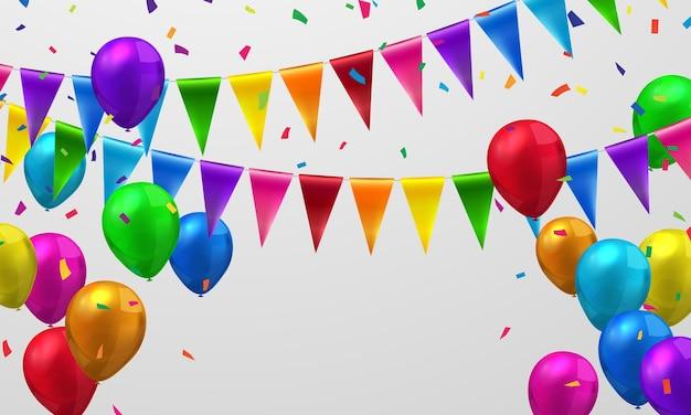 Флаг красочный концепция дизайна шаблона праздник happy day