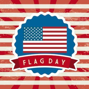 Flag day background united states vector illustration