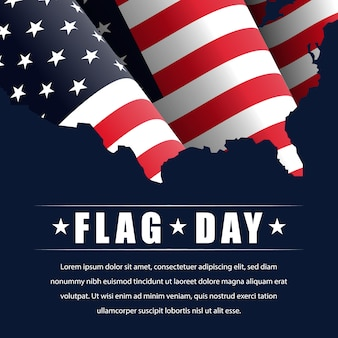 Flag day in the united states, illustration