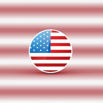 Flag design on blurred background for independence day