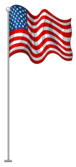 Flag design of united states of america