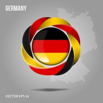 Флаг германии булавка