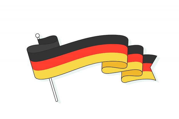 Flag of germany with three stripe.
