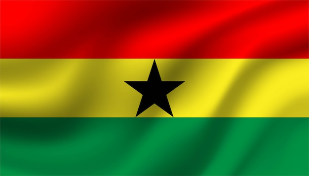 Flag of ghana background template.