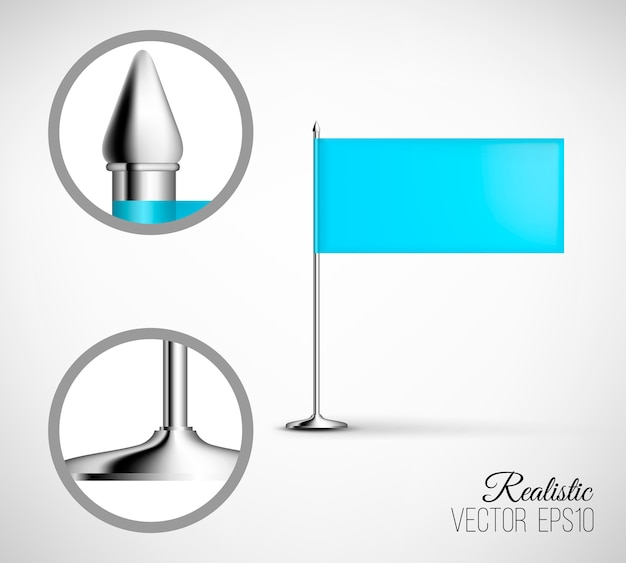 Flag horizontal template. realistic and detailed