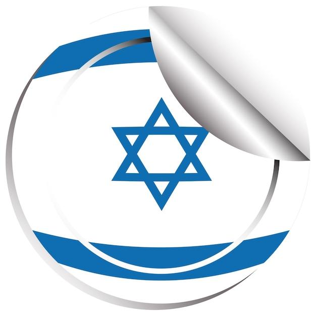 Disegno dell'icona della bandiera per israele