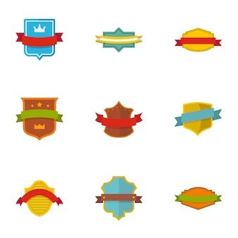 Flag icons set, flat style