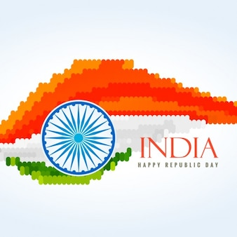 Flag of india made with dots