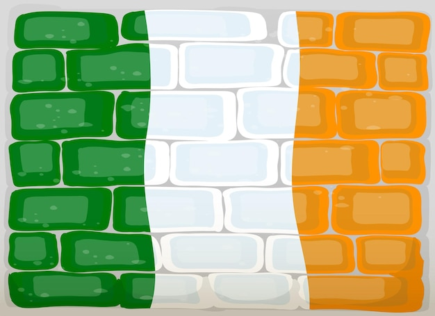Flag of ireland painted on wall