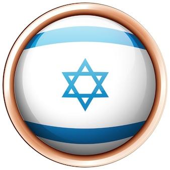 Bandiera di israele sul badge rotondo