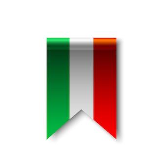 Flag of italy. ribbon.