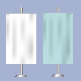 Flag mockup. banner flag templates