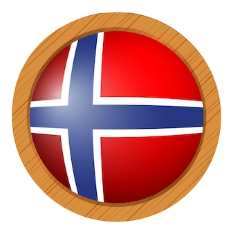 Flag of norway in round icon