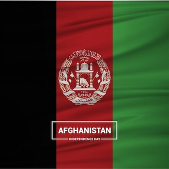 Размахивая флагом афганистана