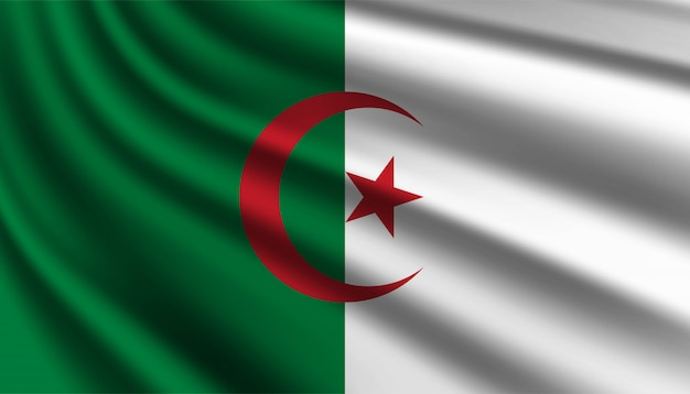 Флаг алжира фон шаблона.
