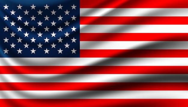 アメリカの背景テンプレートの旗。