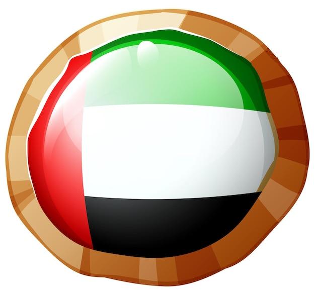 라운드 배지에 아랍에미리트의 국기