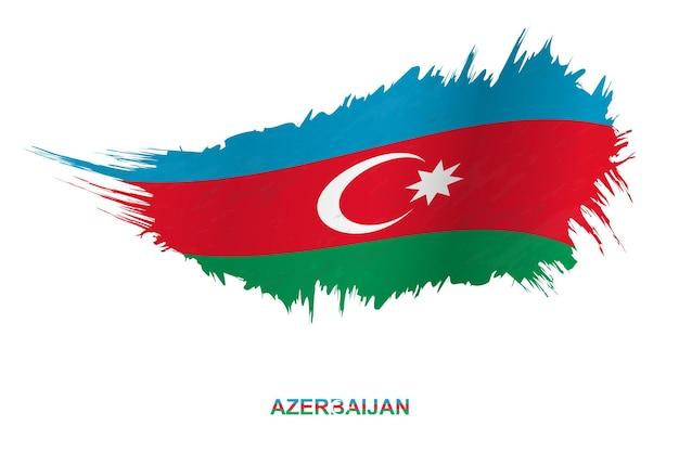 흔들며 효과, 벡터 그런 지 브러시 스트로크 플래그와 그런 지 스타일에서 아제르바이잔의 국기.