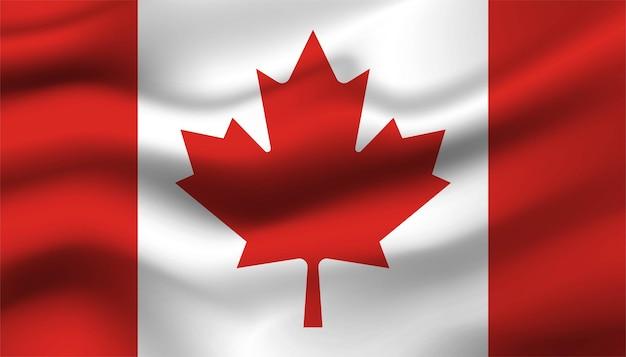 カナダの背景の旗。