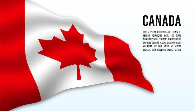 캐나다 배경의 국기입니다.