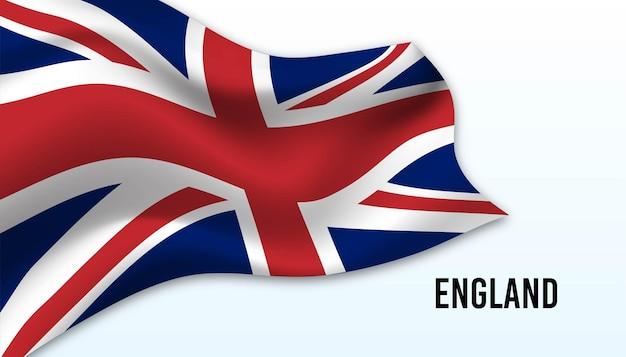 잉글랜드 배경의 국기입니다.