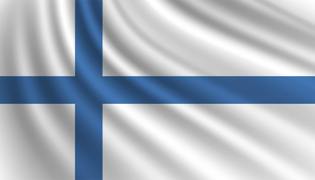 Флаг финляндии фон шаблона.