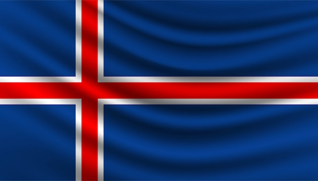 Флаг исландии фон шаблона.