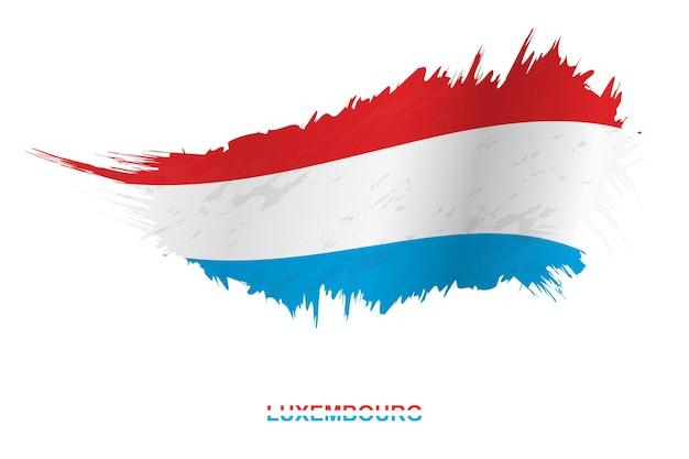 흔들며 효과, 벡터 그런 지 브러시 스트로크 플래그와 그런 지 스타일에 룩셈부르크의 국기.