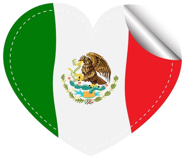Флаг мексики в форме сердца